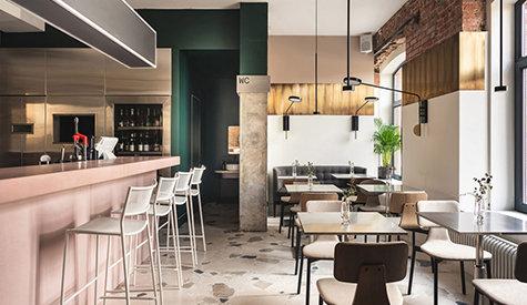 清新风格咖啡厅餐厅装修设计