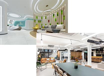 公司前厅这样设计,客户也为你着迷