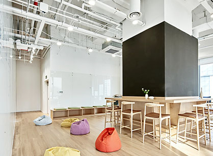 上海壹盒公司的办公室装修设计