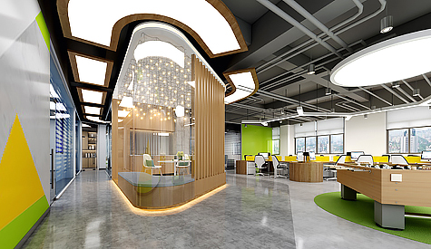 辰矽新材料办公室装修设计