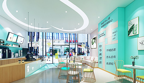 萝岗区奶茶店餐饮设计