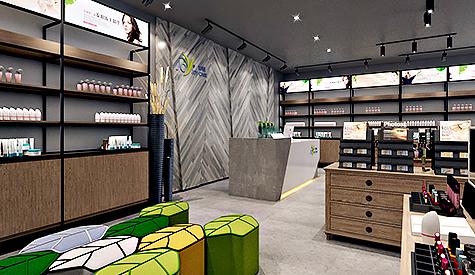 娇珂蕊植物化妆品专卖店铺设计