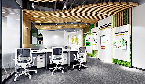 德旭新材料公司办公室设计