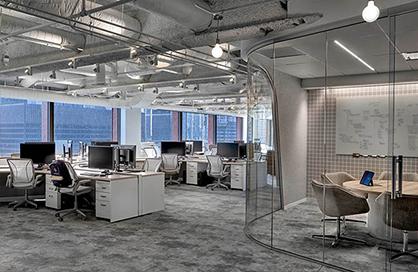 增城办公室装修设计的色彩合理搭配