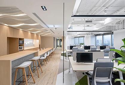 来看看制药公司新潮的办公室装修设计吧