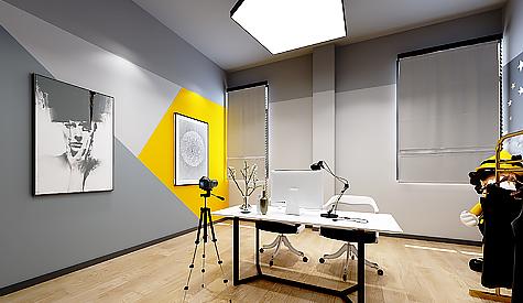 广州新秀文化传媒办公室装修设计