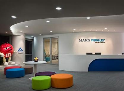 走进玛氏箭牌广州总部的办公室装修设计