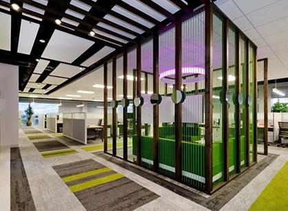 欣赏下来自Hortonworks圣克拉拉总部办公室装修设计
