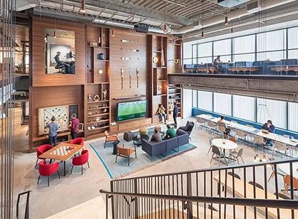 欣赏下新英格兰微软研发中心办公室装修改造设计吧
