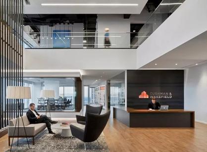 看看美国高纬环保亚特兰大办公室装修设计