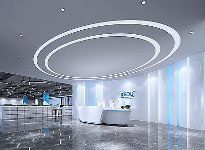 广州市科欧灯具办公室装修设计