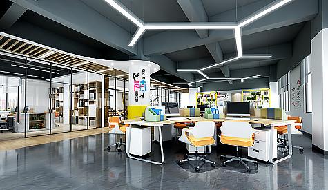 广州市开吉服装办公室装修设计