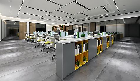立高食品办公室装修设计