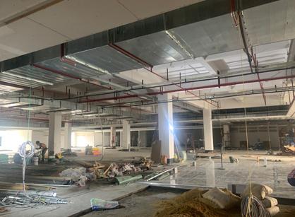 巡工地日记,广东英达辉药业办公室装修项目进行中