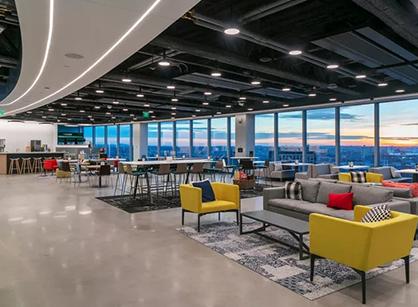 物联网平台PTC波士顿全球总部办公室装修设计空间大改造